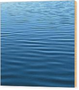 Silent Blue Tranquility Wood Print