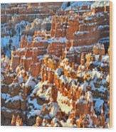 Silent City Snowy Hoodoos Wood Print