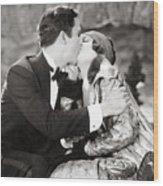 Silent Film Still: Kissing Wood Print