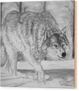 Silent Gait Wood Print