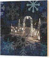 Silent Night Snow Wood Print