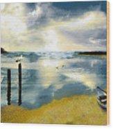 Silent Ocean Wood Print