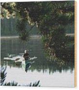 Silent Paddler Wood Print
