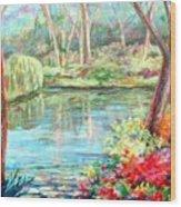 Silent Pond Wood Print