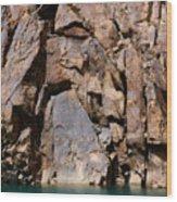 Silent Rocks Wood Print