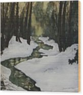 Silent Snow Wood Print