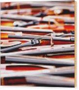 Too Much Violins In Film Wood Print