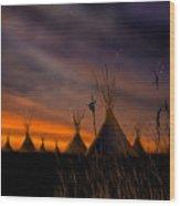 Silent Teepees Wood Print