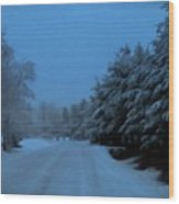 Silent Winter Night  Wood Print