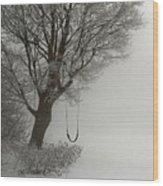 Silently Swinging Wood Print