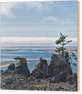 Siletz Bay Wood Print
