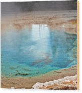 Silex Spring Fountain Paint Pot Yellowstone National Park Wy Wood Print