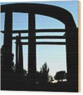 Silhouette At Sundown Wood Print