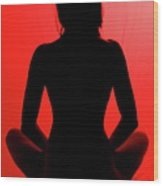 Silhouette In Red #1 Wood Print