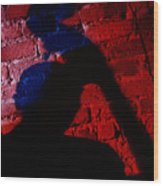 Silhouette Of A Jazz Musician 1964 Wood Print