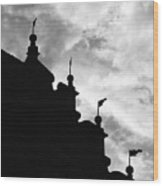 Silhouette Of The Roof In Rothenburg Germany Wood Print
