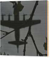 Silhouette Of War And Peace Wood Print