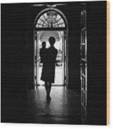 Silhouette Portrait Of Jacqueline Wood Print by Everett