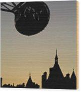 Silhouetted London Eye Capsule Wood Print