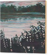 Silhouetted Serenity Wood Print