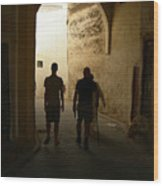 Silhouettes In Fez Wood Print