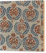 Silk Embroidered Linen Panel Wood Print