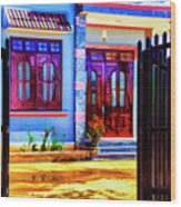 Silk Factory Owners Home Wood Print