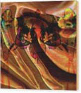 Silk Folds Wood Print