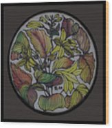 Silk Leaves Wood Print