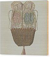 Silk-straw Reticule Wood Print