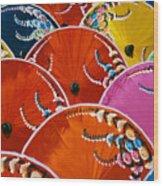 Silk Umbrella Factory Wood Print