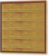 Silken Gold Border Stripes With Jewel Imprint Elegant Border Energy Healing Art By Navinjoshi Finear Wood Print