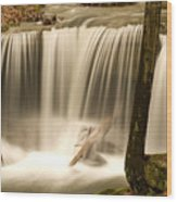 Silken Waterfall Wood Print