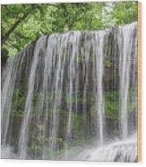 Silky Waterfalls Wood Print