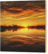 Silky Sunset  Wood Print