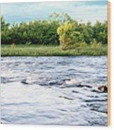 Silky Susquehanna River Wood Print