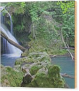 Silky Waterfall Wood Print