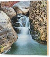 Silky Waters Of Jemez Springs Wood Print