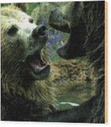Silly Bears Wood Print