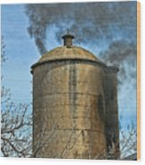 Silo Fire Venting Wood Print
