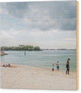 Siloso Beach Wood Print