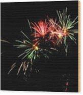 Silute 500. Lithuania. Fireworks 01 Wood Print