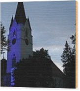 Silute Lutheran Evangelic Church Lithuania 01 Wood Print