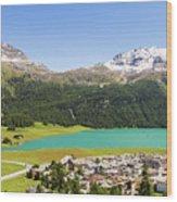 Silvaplana In Canton Graubunden, Switzerland Wood Print