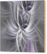 Silver Abstract Ascension. Mystery Of Colors Wood Print