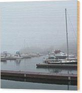 Silver Bay Marina Wood Print