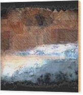 Silver Beach  Wood Print