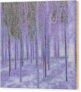 Silver Birch Magical Abstract  Wood Print