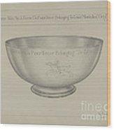 Silver Bowl Wood Print