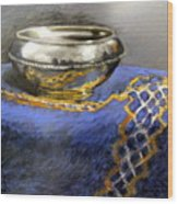 Silver Bowl Wood Print by Lenore Gaudet